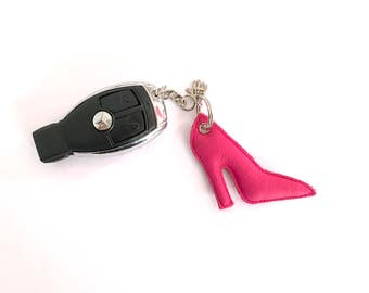 Keychain leather pumps