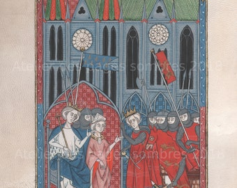 """Reproduction quality FineART illumination """"Chartres"""" 1254"""
