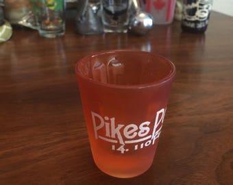 Pikes Peak Shot Glass Barware.