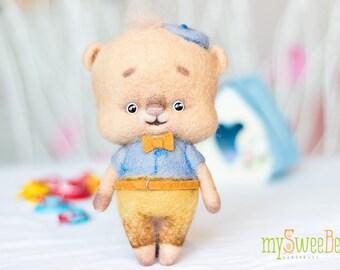 Sweet felted teddy bear SweeBe - toy