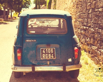 travel photography, home decor, wall art, car, france, fine art photography, art print, gifts for her, whimsical photography, landscape art