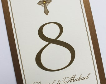 Vintage Cross Gold Table Numbers