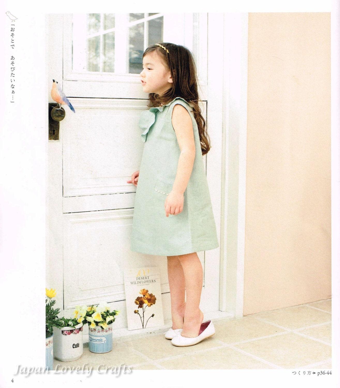 Lässige Mädchen Kleidung japanische Nähen Muster-Buch für