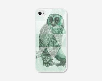 Geometric Phone Case - Mint Green Owl iPhone 5c case - Owl iPhone 5 Case - Mint iPhone 5 Case - Mint iPhone 5c Case - Mint iPhone 4 Case