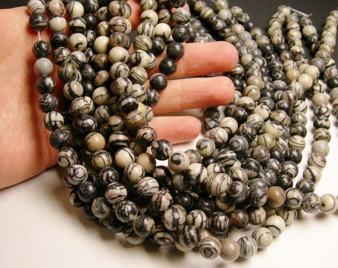 Silk Stone - 10 mm - round bead - 41 beads - full strand - Spider Jasper - RFG1021