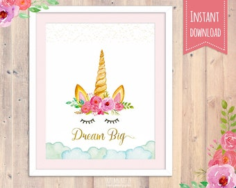 unicorn nursery wall printable,  unicorn wall art, nursery decor, unicorn print, unicorn nursery, unicorn party, unicorn printable