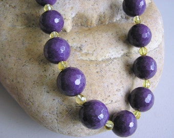 Purple is for Royalty (Necklace of Jade and Citrines)