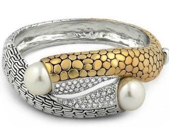 Sapphire & Fresh Water Pearl Bracelet