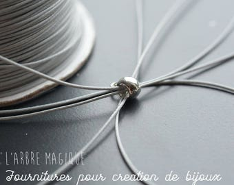 cord of polyester very fine 0.05 mm anthracite 2 meters * bracelet *.