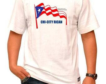 Rican's Chicago Chi City Puerto Rican Men's T-Shirt