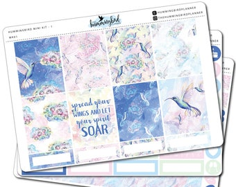 Hummingbird Mini Kit | MK01 | Planner Stickers for Erin Condren Vertical Planners - Physical Item | The Hummingbird Planner