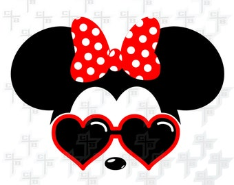 Cute Disney Cool Minnie Mouse svg Hipster Svg PNG Files Svg Files for Silhouette Cameo Svg Files for Cricut Files for Girls