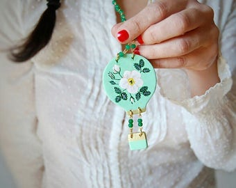 Wooden Balloon Necklace
