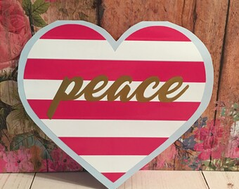 Peaceful Hearts - Car Decal