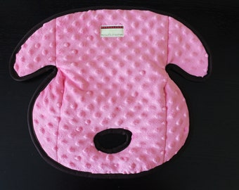 Carseat Protector Pad, Waterproof Carseat or Stroller Pad, COMPLIMENTARY SHIPPING, Minky Pink