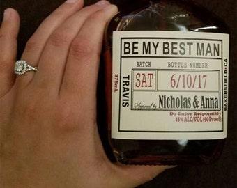 Will you be my Groomsman - Wedding Groomsman Liquor Labels - Will you be my Best Man - Groomsmen Labels -  Grooms Gifts