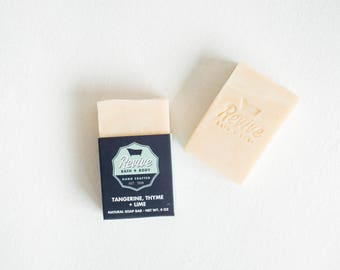 READY TO SHIP! Tangerine, Thyme + Lime Soap Bar