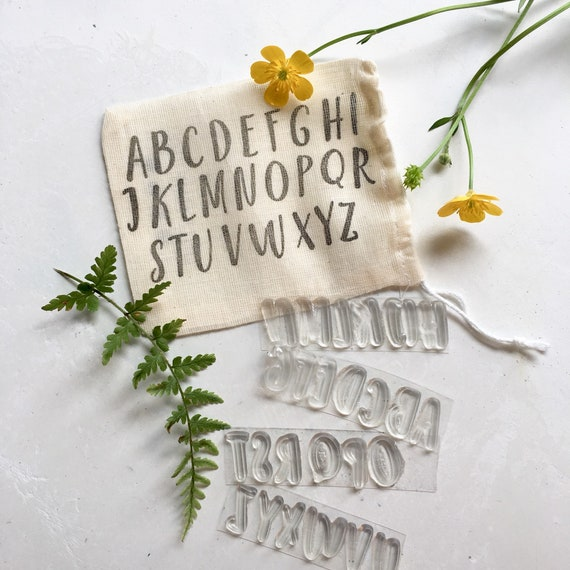 Alphabet Upper Case Clear Rubber Stamps - Upper Case Alphabet Clear Rubber Stamps - Alphabet Stamps - Alphabet Rubber Stamps  - Letter stamp