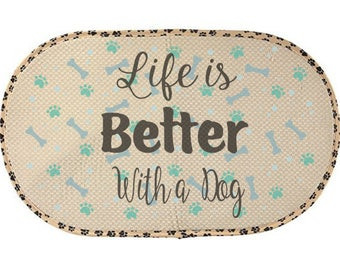 Pet bowl mat, Dog, cat, Mat