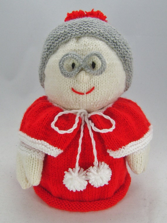 KNITTING PATTERN - Mrs Santa Toilet Roll Cover Knitting Pattern ...