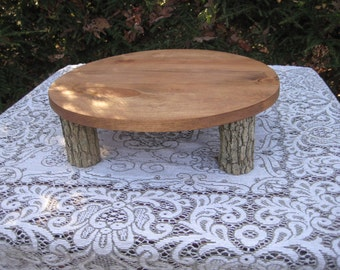Rustic Cake Stand, Cupcake Stand, Wood Cake Stand, Round Cake Stand, Log Cake Stand, Tree Cake Stand, Rustic Wedding, Your Divine Affair