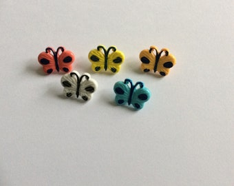 Painted Butterfly  Novelty Button