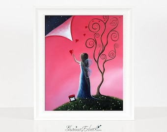 Tomorrow's Promises Are One Dream Away - Signed - 8x10 - Matte Finish - Home Decor Accents - Full Color - Fantasy Dreamy Art - Colorful Art