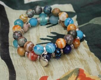 Christmas Gift fro  Bracelet for  Christmas Gift for Girlfriend Gift for Her  for wife Onyx Agate Jasper Quartz