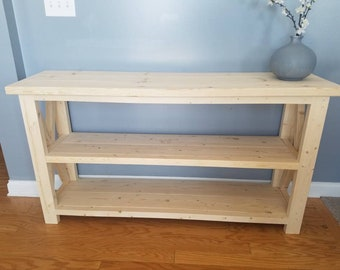 Entry way stand.  Farmhouse furniture, furniture, entry table, Console table, Console, Entry, Wood entry table, wood furniture, farmhouse.