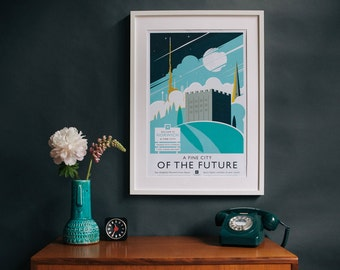 A Fine City of the Future – Norwich print