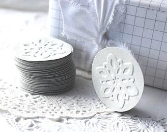 Snowflake Stickers, Snowflake Envelope Seals, Paper Snowflakes, Embossed Snowflakes