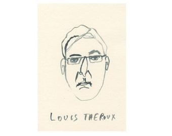 Original Portrait || LOUIS THEROUX || 100failedfamousfaces