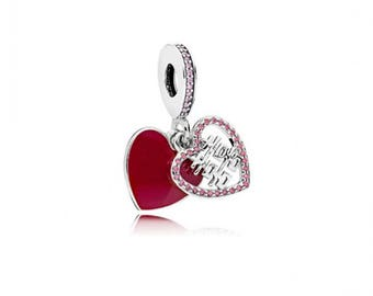 CLEARANCE Authentic Pandora DOUBLE HAPPINESS Heart Dangle Charm