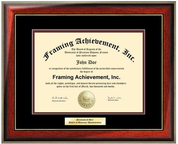 Engraved Certificate Frame College Diploma Frames - Framing Diploma ...