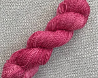 Pink Cadillac, inspired hand dyed yarn (75 super wash merino 25% nylon) 4 ply / fingering weight