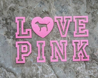 Love Pink - Iron-On Heat Transfer Vinyl Decal