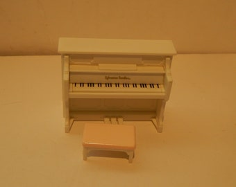 Vintage Sylvanian Calico Critter Piano with Bench