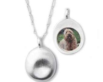 Silver Pet Photo Necklace (M)