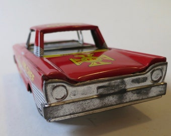 1961 ford Japanese friction all tin fire chief car.
