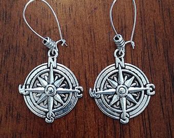 Earrings, Nautical Earrings, Anchor Jewelry, Sailing Earrings, Cowgirl Earrings, Rodeo Earrings, Silver Earrings, Anchor Pendan Earrings