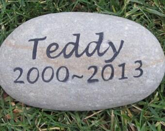 Personalized Pet Memorial Stone Memorial Gravestone Memorial Stone Burial Stone Grave Marker 8-9 Inch