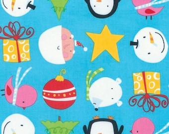 Free Spirit - Merry Xmas Cuties - Bright by David Walker - DWDW128.OBRIG - 100% cotton fabric - Fabric by the yard(s)