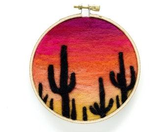 """Sunset Series 18, Cacti - 4"""" Hoop"""