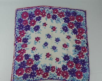 1930s or 1940s Floral Hankie - Perfect Gift