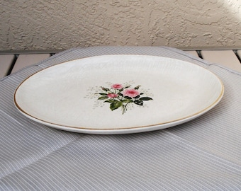 Vintage Salem China 22K Warranted Oval Platter USA