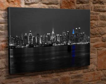 Extra Large Canvas Wall Art Print Picture Black & White New York City Sky Line
