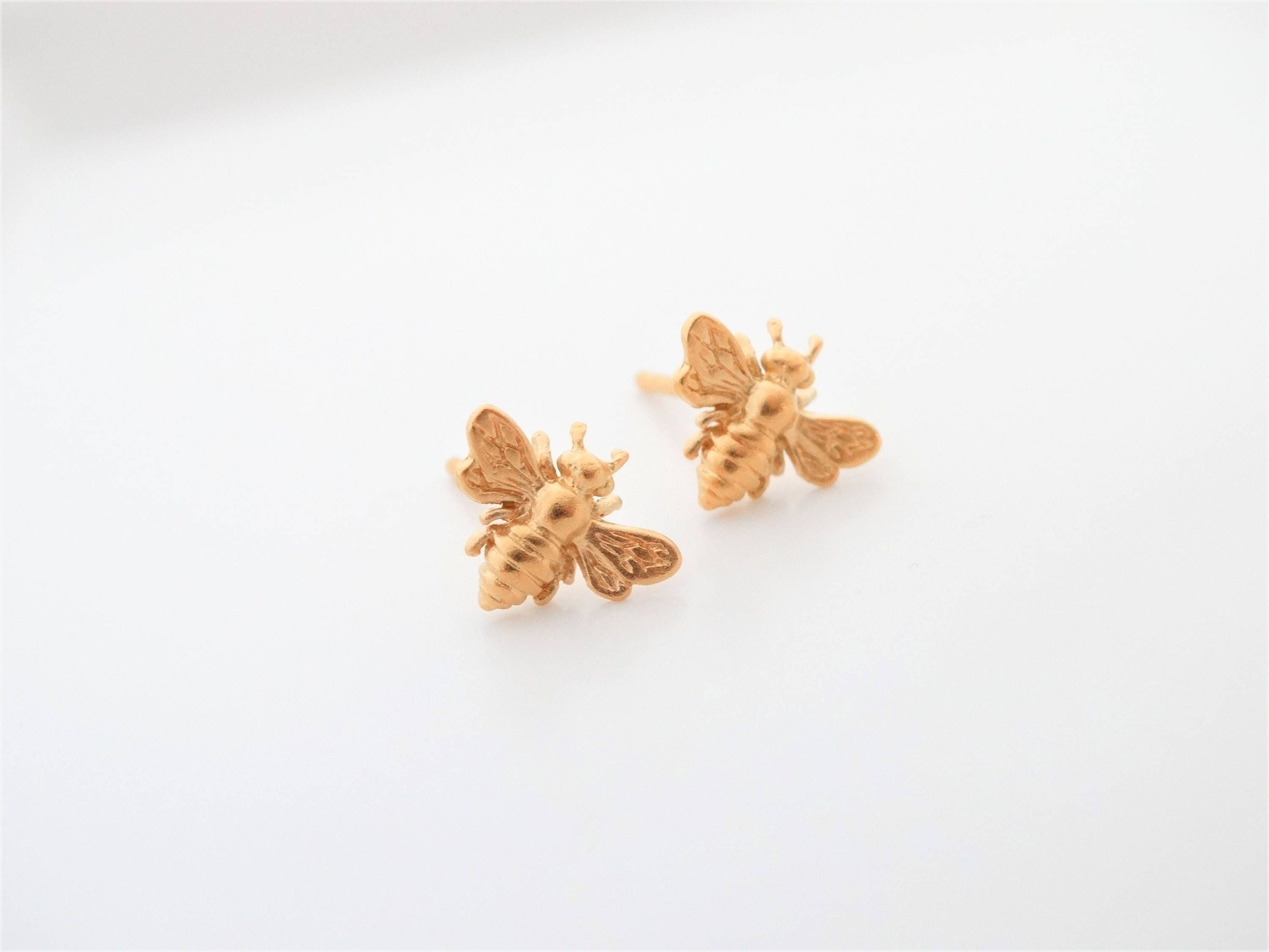 ted bee metallic women gold baker blesilabumble silverlic lyst in jewelry stud s fossil earring