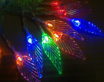 Leaf Battery Operated 40LED Christmas Wedding String Fairy Lights