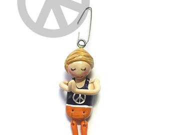 Namaste Collection:  Julie (Ornament) - Standing Namaste - CAN BE PERSONALIZED w/ Add-On Option