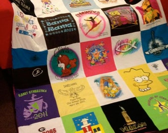 Custom T Shirt Memory Quilt Unlimited Items, Size, Payments Accepted